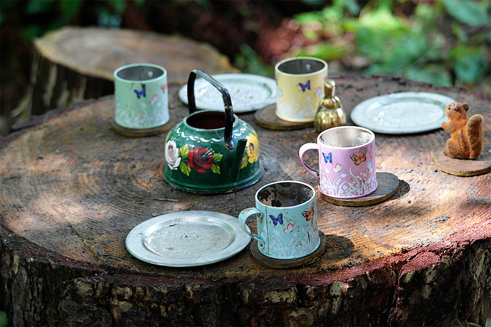 Tree stump tea parties to be had at Lizzie's Way, Camp Bestival