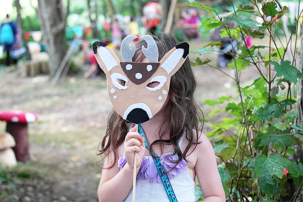 There's plenty of masks as dressing up fun to be had at Lizzie's Way, Camp Bestival