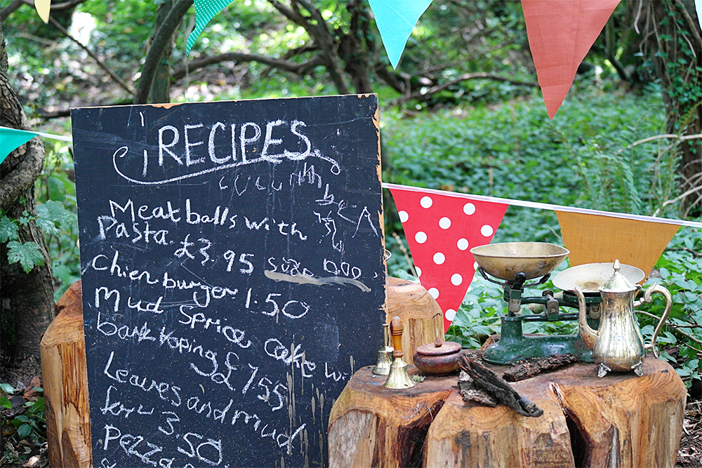 Cooking up a mud storm in Lizzie's Way, Camp Bestival