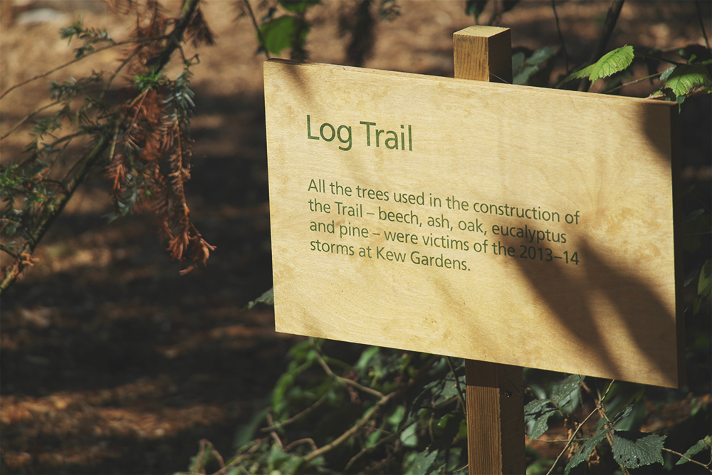 Log Trail at Kew Gardens