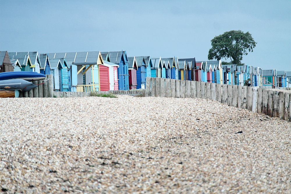 Coloured Beach Huts, Calshot