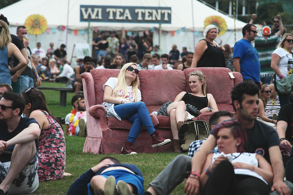 Chilling out at Bestival
