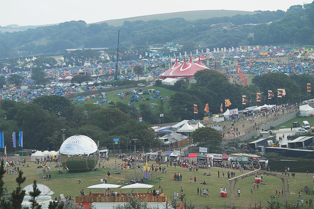 Looking down over Bestival 2014