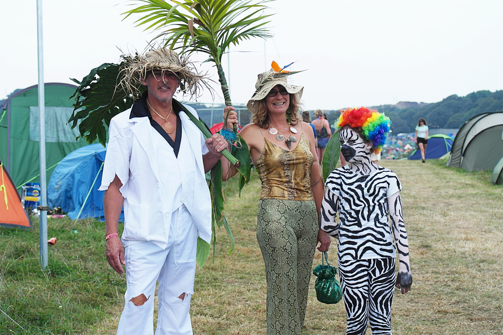 Photos of Bestival. Loved these happy family campers costumes for the Carnival!