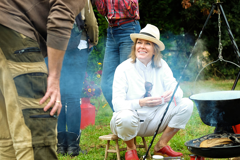Cerys Matthews chatting to The Good Life Experience festival goers