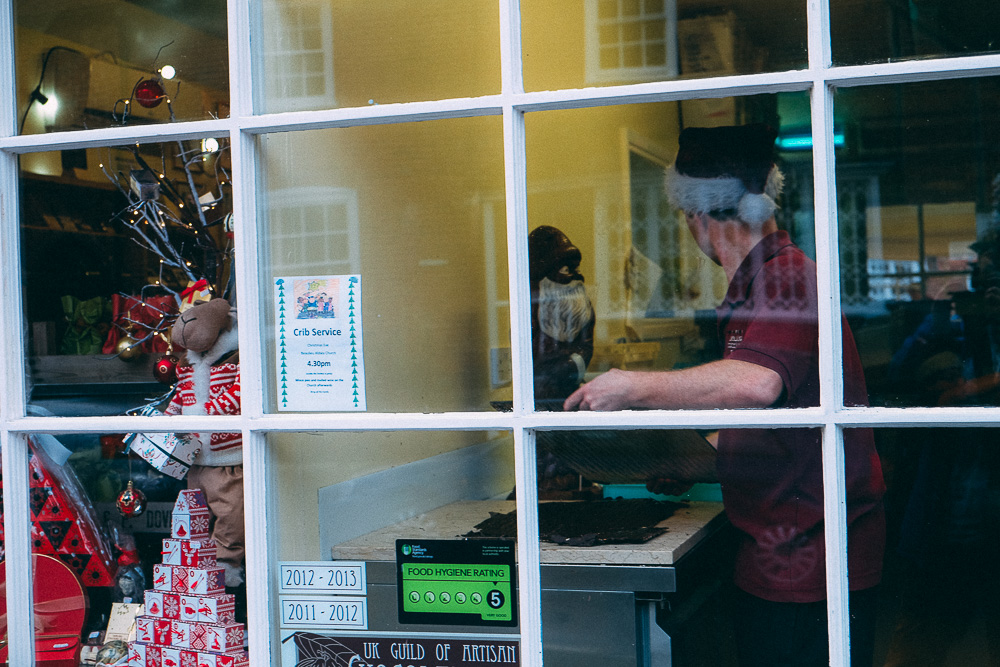 Thanks to this chap making chocolate wearing a Santa hat for letting me take his photo. Good work on the food hygiene rating btw...