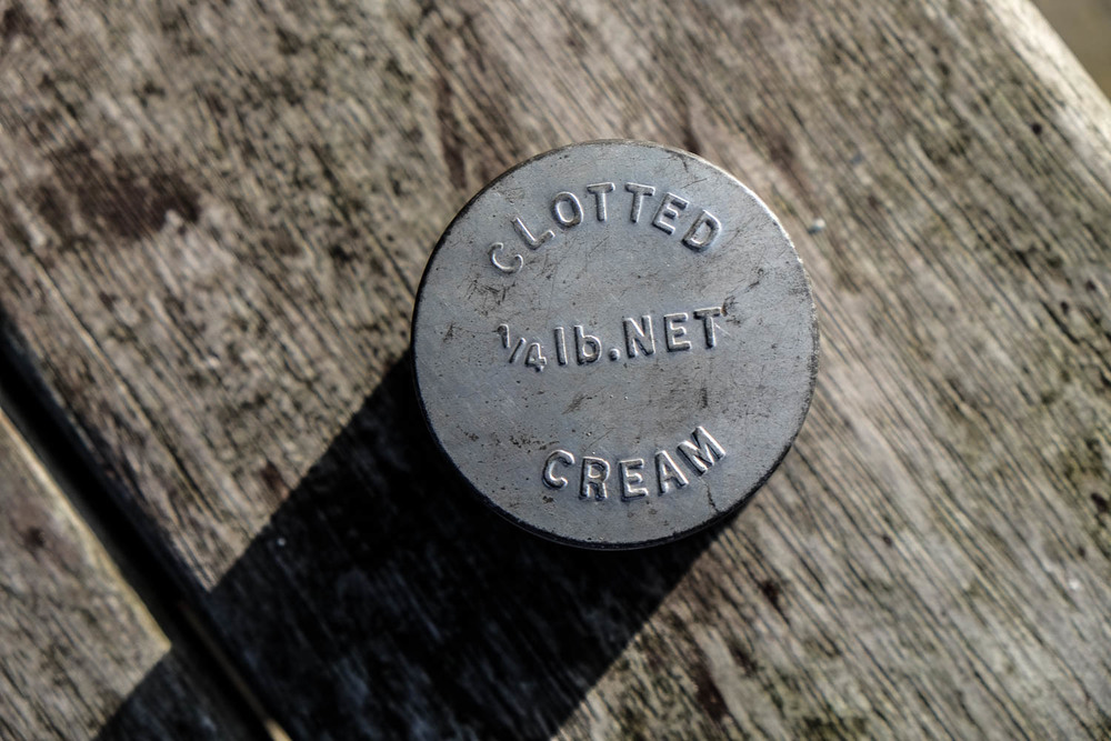vintage clotted cream tin