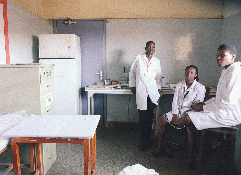 Where the blood samples go to be tested for HIV at JoTRH, Kenya