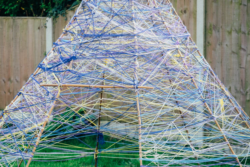 How to make a Yarn Teepee (Tipi)