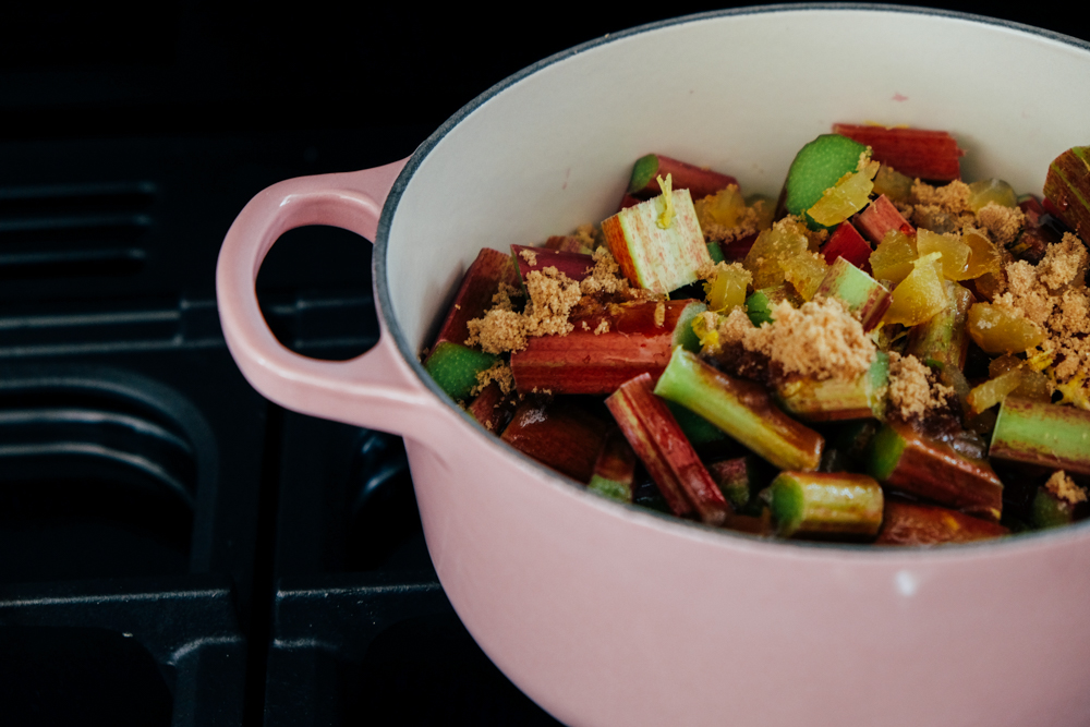 Rhubarb & Stem Ginger Crumble