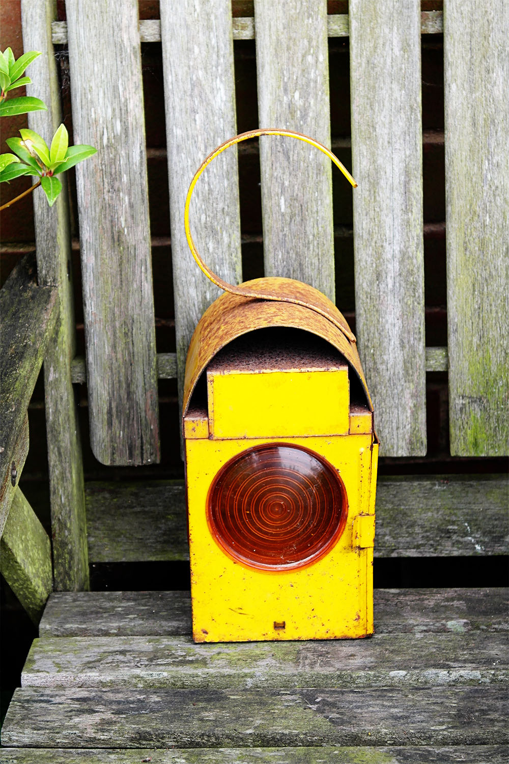 vintage road lamp (from a time when there were no 'cones' or street lights in many places)