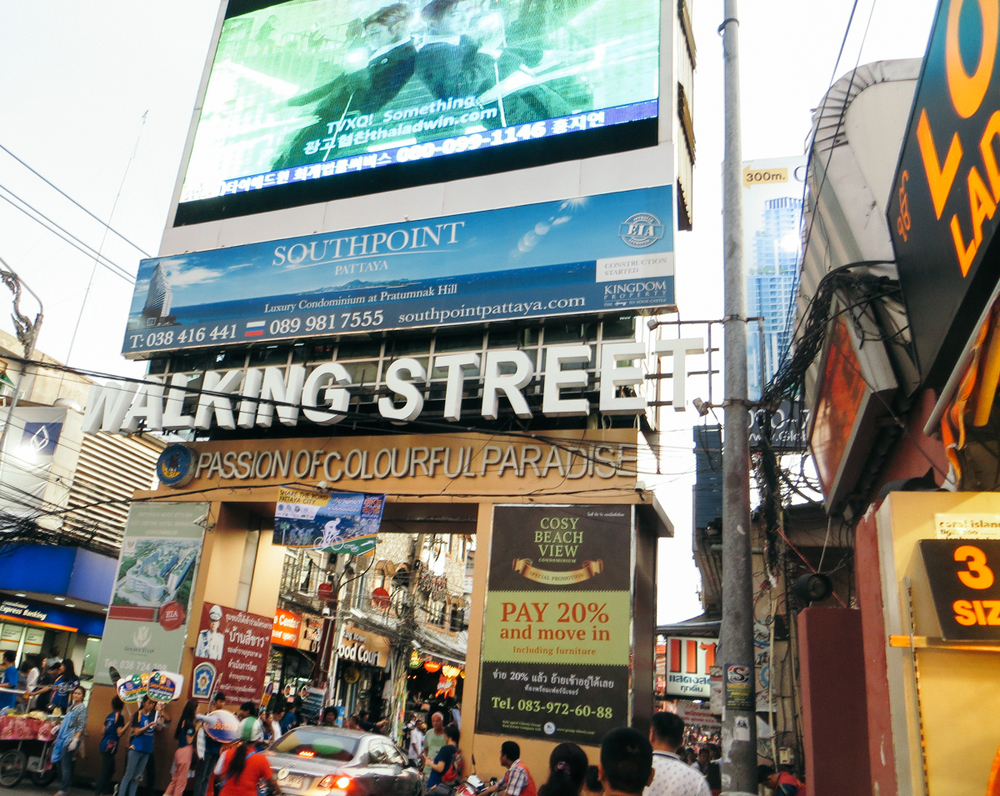 Pattaya Walking Street Strip Thailand