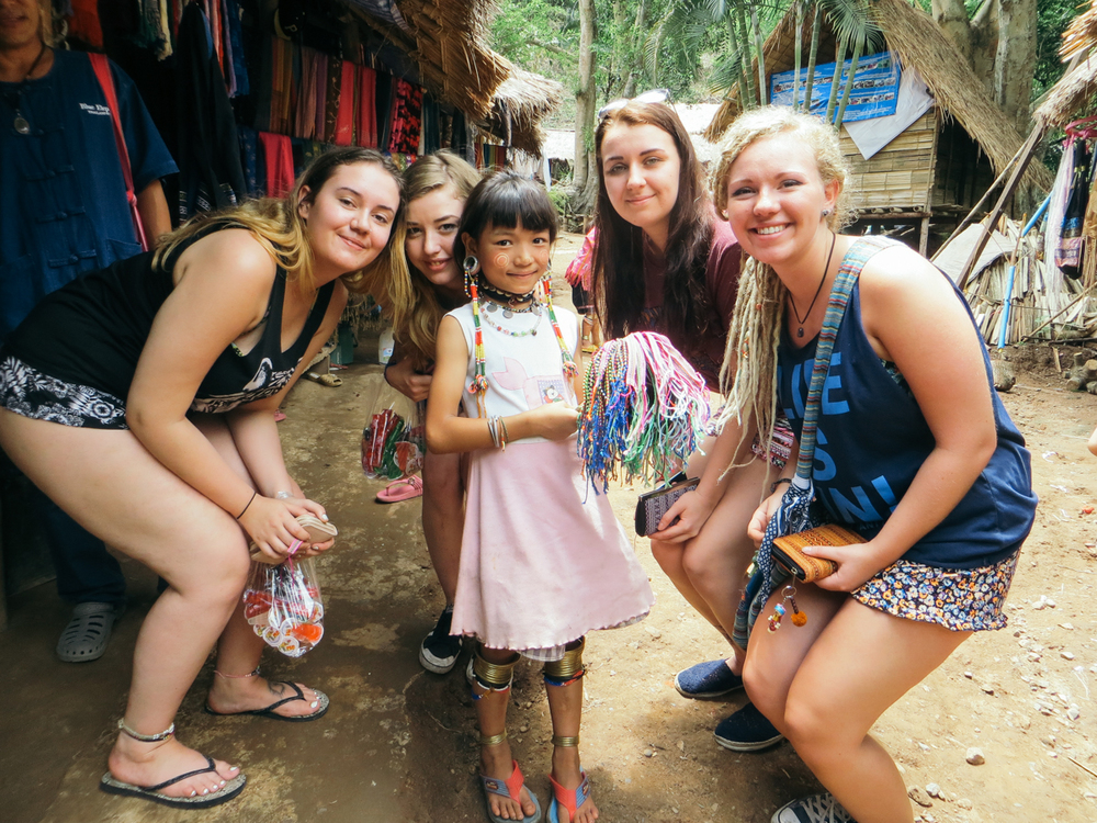 Visiting a local neck tribe with Blue Elephant Tours