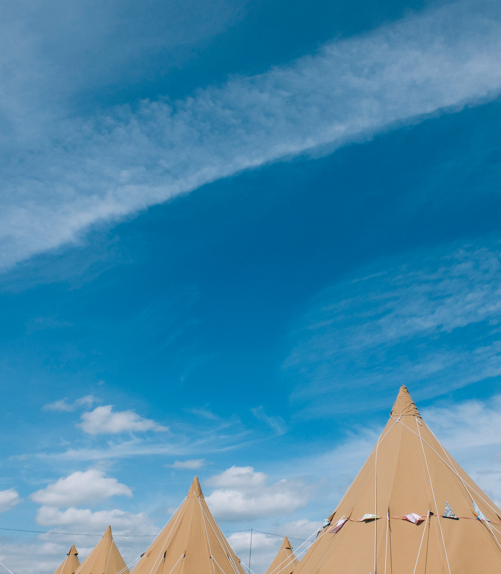 Glastonbury 2015 in Photos: Tipi's in Worthy View Camping Field