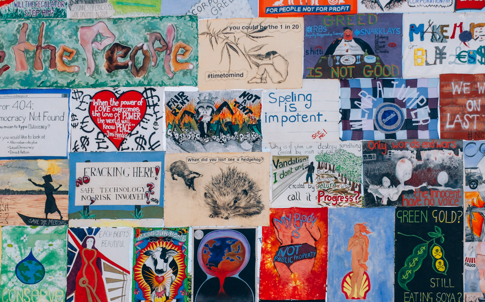 Glastonbury 2015: Spelling is impotent and other works, art wall,by John Peel stage