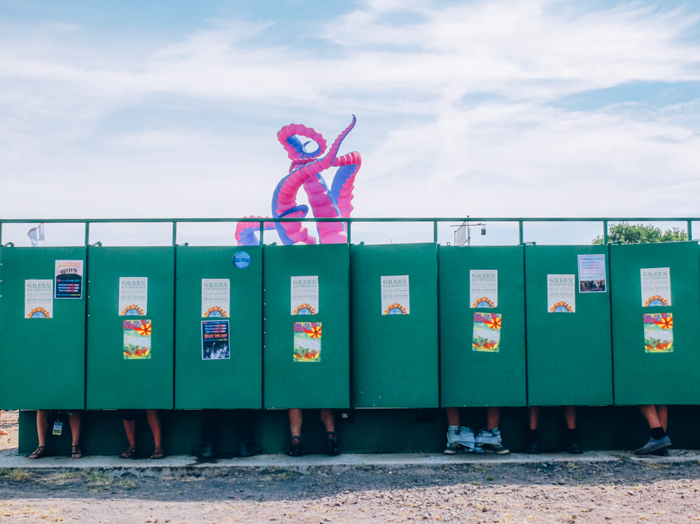 Glastonbury 2015 in Photos: Festival toilets