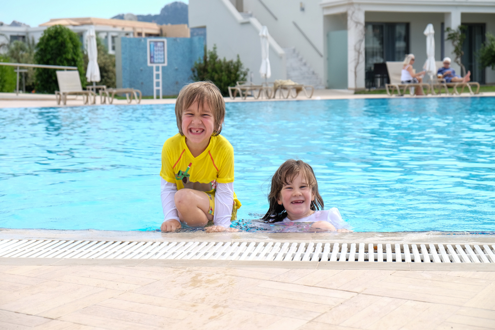 Children enjoying the pool at Mark Warner's Levante Resort