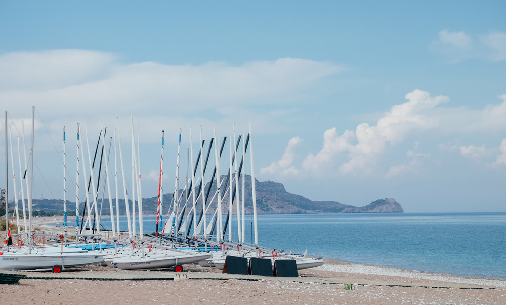 Boats lined up on the beach at Mark Warner's Levante Resort
