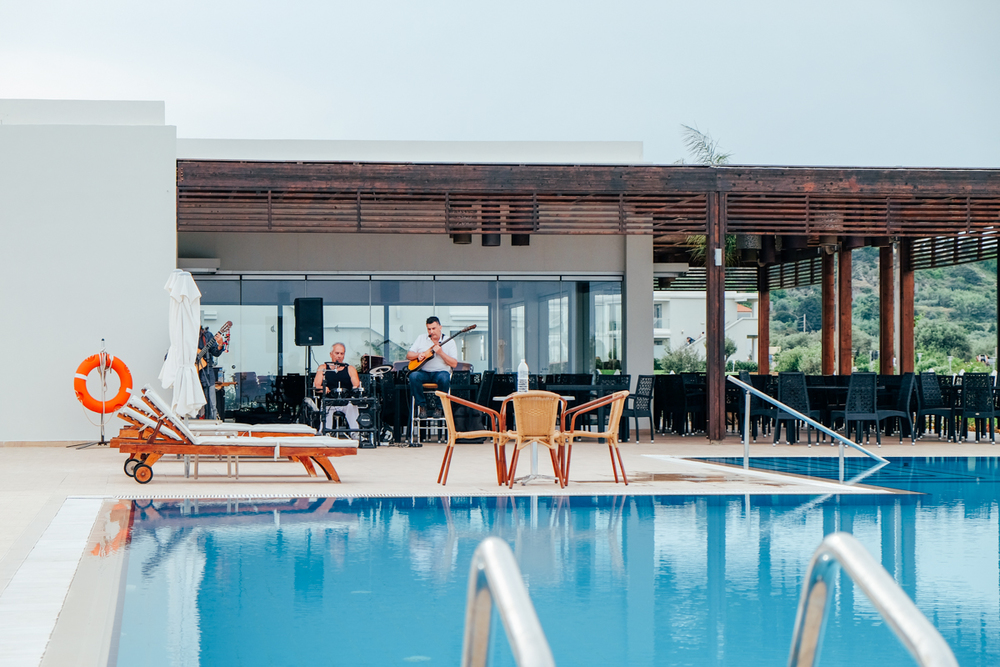 Live music poolside at Mark Warner Levante Resort, Rhodes.