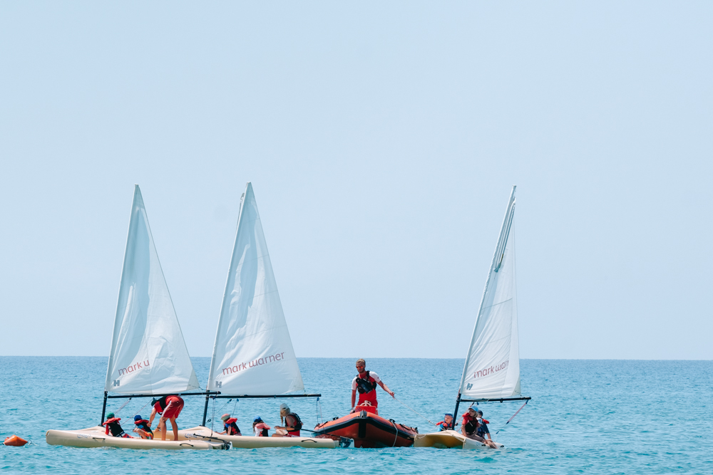 Kids Club sailing at Mark Warner Levante Resort