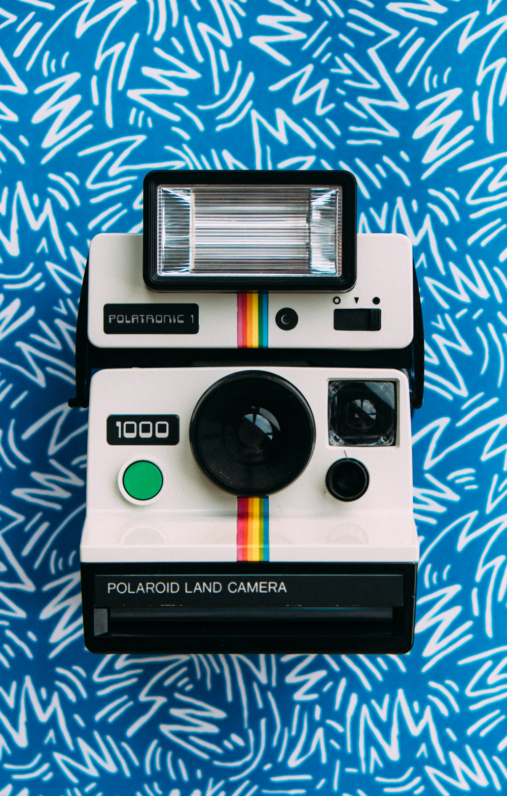 Using a Polaroid 1000 Land Camera