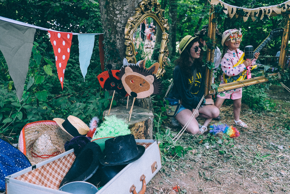 PHOTOBOOTH - DRESSING UP CORNER, LIZZIE'S WAY, CAMP BESTIVAL 2015