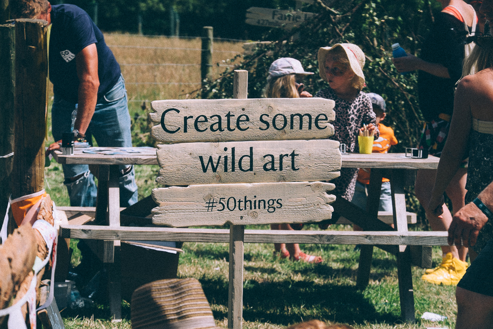 Create some wild art, NATIONAL TRUST 50 THINGS MEADOW, CAMP BESTIVAL 2015