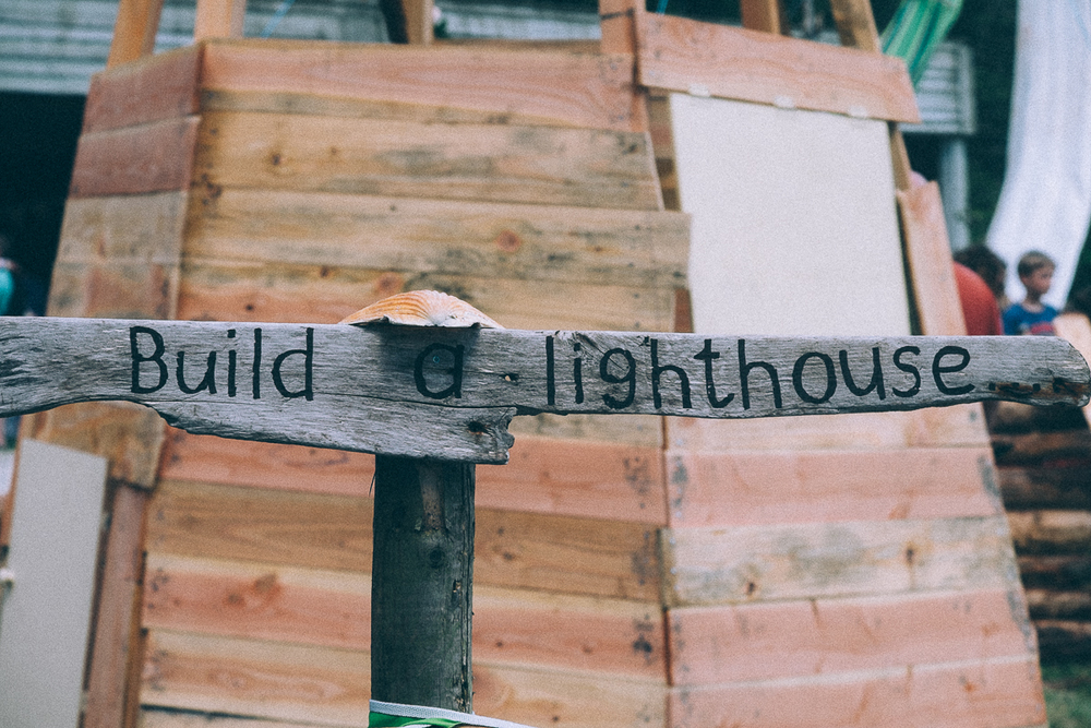 Build a Lighthouse,  NATIONAL TRUST 50 THINGS MEADOW CAMP BESTIVAL 2015