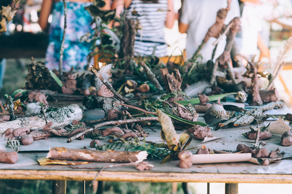 Woodland makes from children,CAMP BESTIVAL 2015