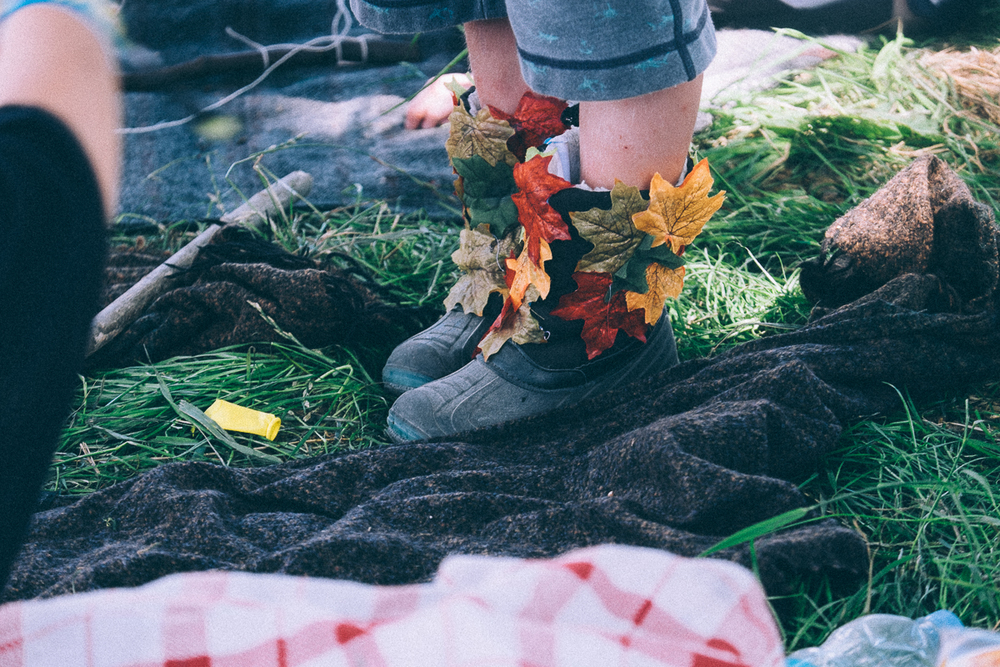 Probably the coolest boots at the festival