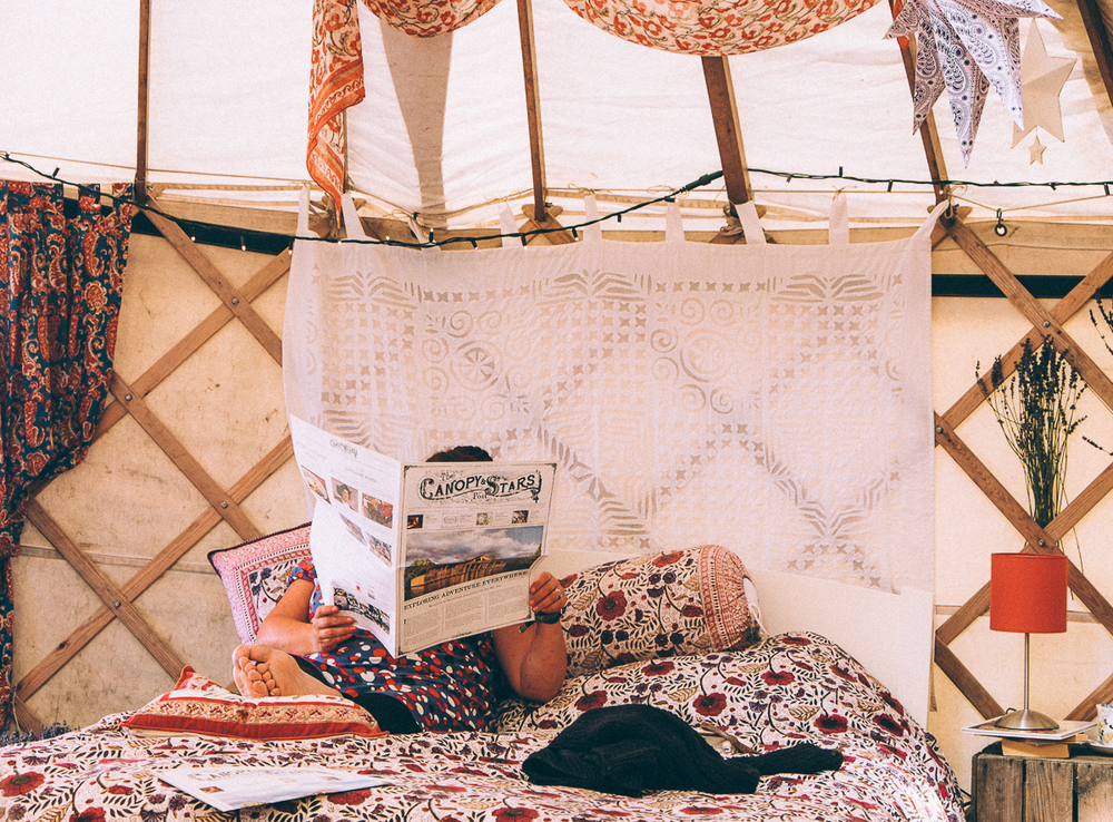 THE CANOPY & STARS DREAMTIME YURT, Camp Bestival 2015