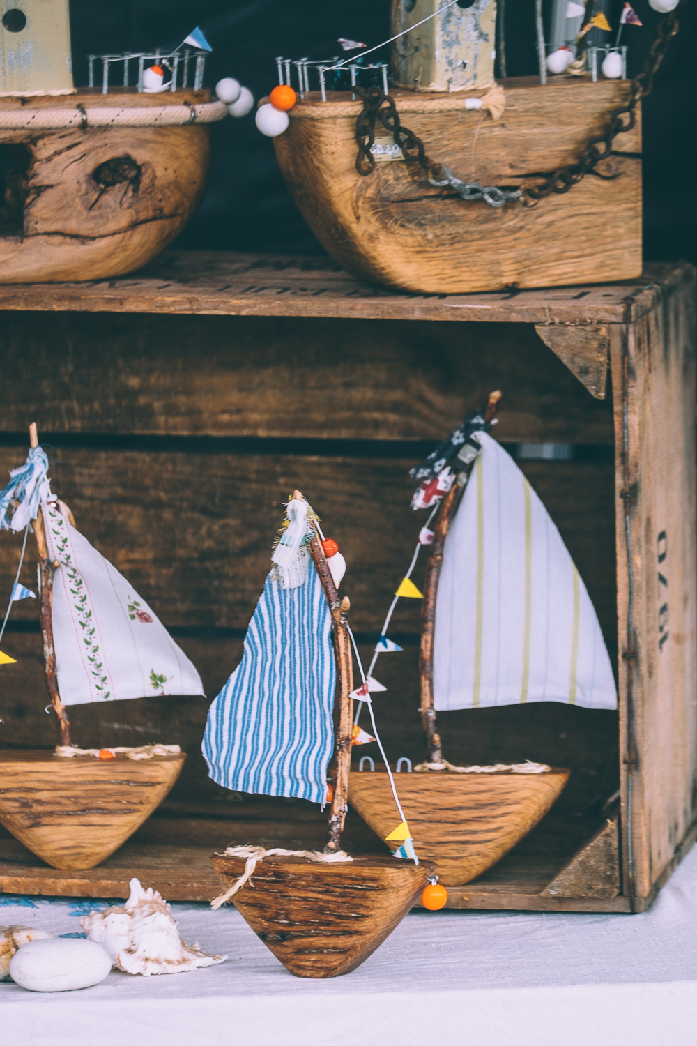 Wooden handmade crafts at River Cottage Summer Fair