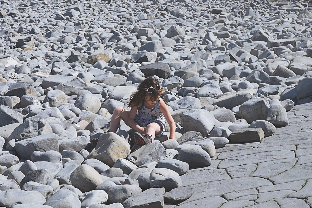 Fossil hunting on Kilve Beach