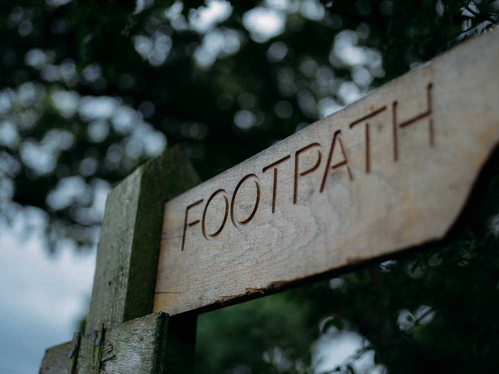'Footpath' sign shot with Pentax645Z