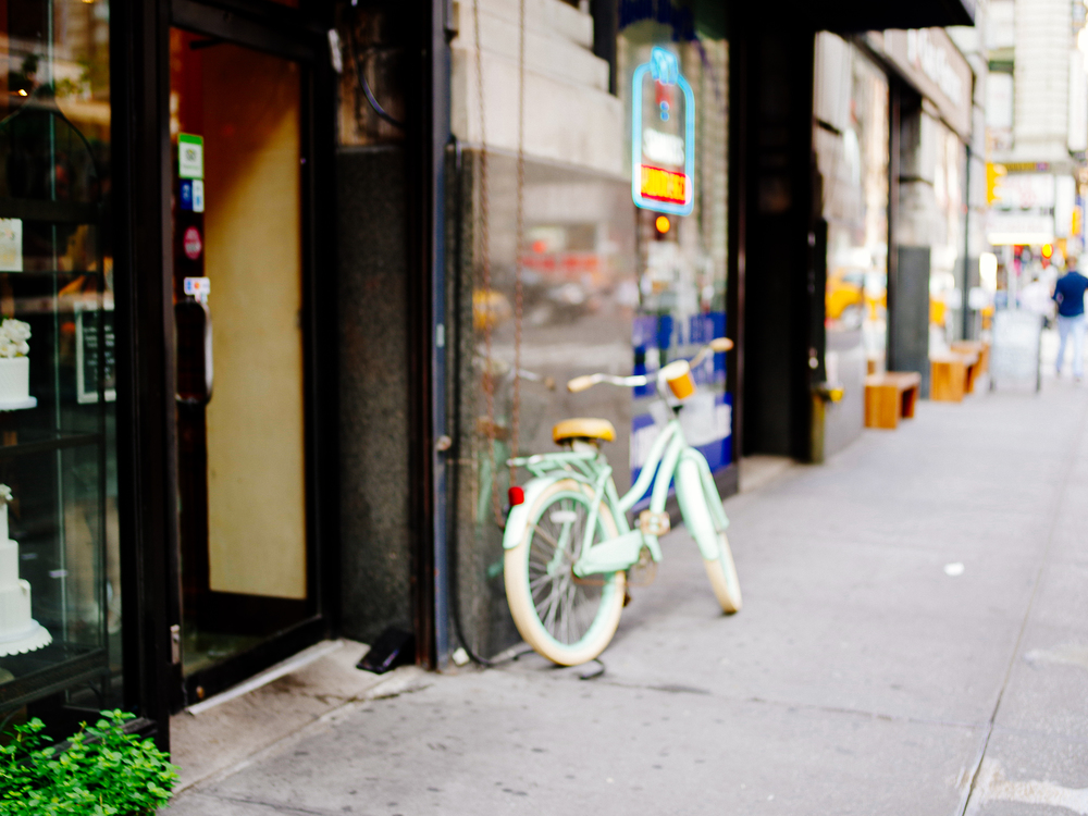 Blurred bike
