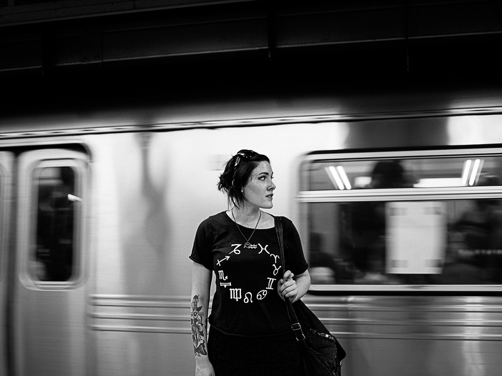 Woman on Subway, New York