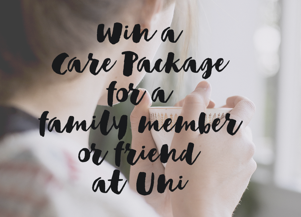 Win a Care Package for a family member or friend at University