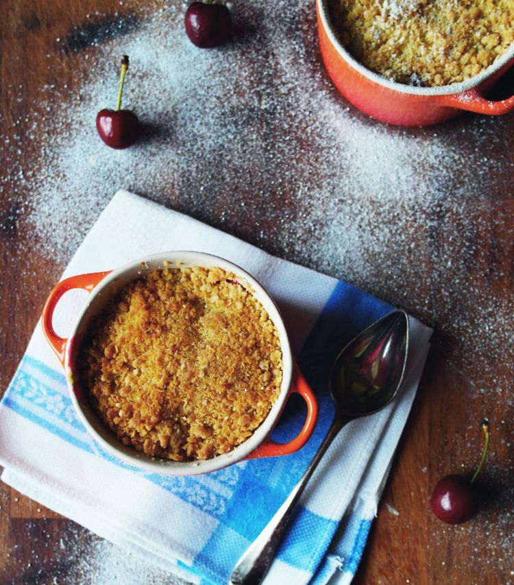 Cherry & Brandy Mini-Crumbles Recipe