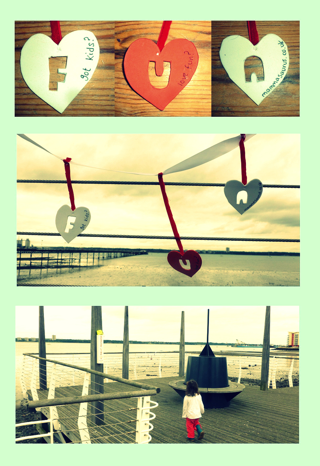 """""""hearts on a pier"""""""