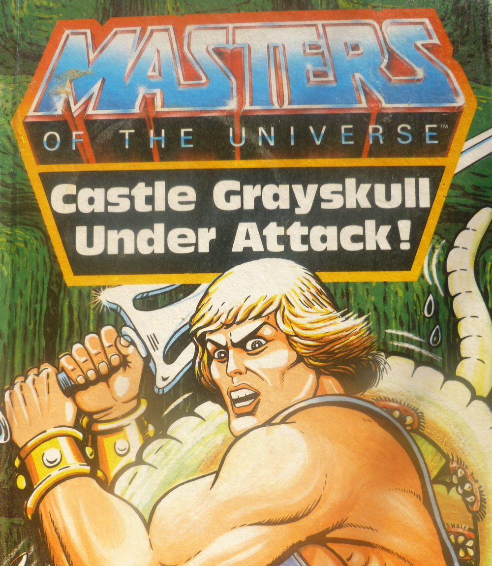 He-Man Masters of the Universe Castle Greyskull under attack! Front cover