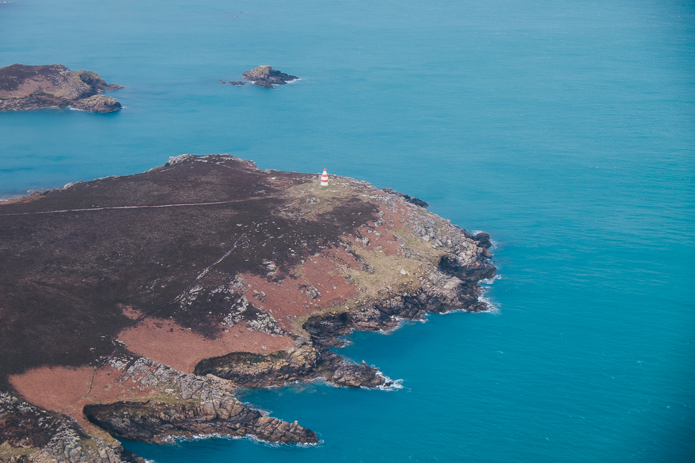 Skybus, aerial view of Isles of Scilly