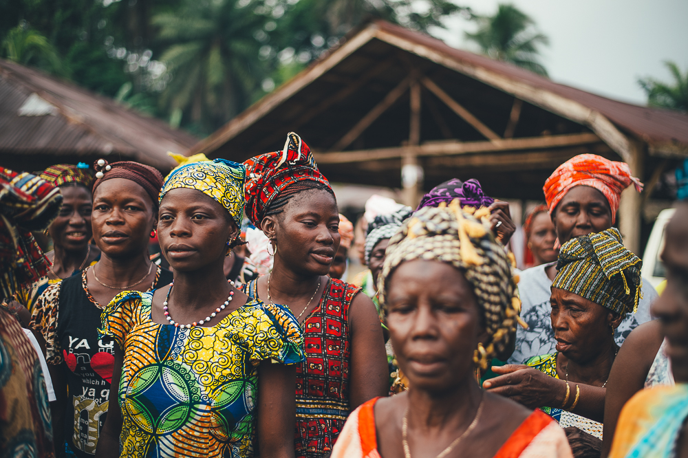 Introduction to a local Savings Group, mother's working together to make a difference in Sierra Leone.