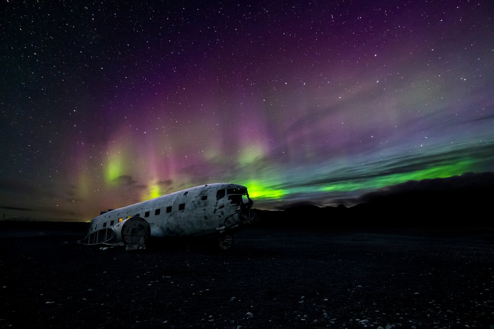 Solheimasandur Plane Crash site, Iceland - Photo by Thomas Tucker via Unsplash