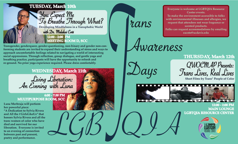 UC Davis Trans* Awareness Days Events