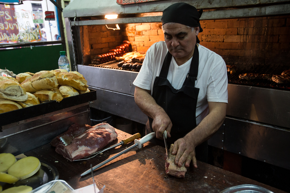Meats & bread at Desnival - Buenos Aires