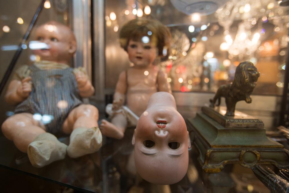 Old dolls at San Telmo Market - Buenos Aires