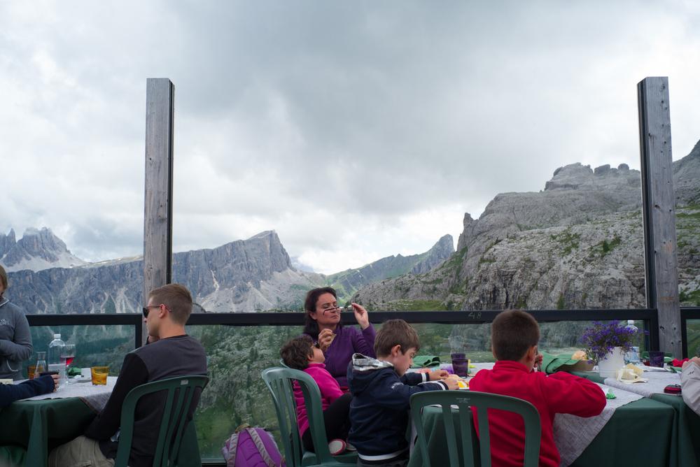 Lunch at Rifugio Scoiattoli