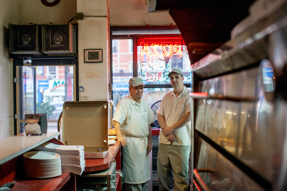 Carmine Gaudiosi and his nephew Luciano, at Sal & Carmine's, on the Upper West Side