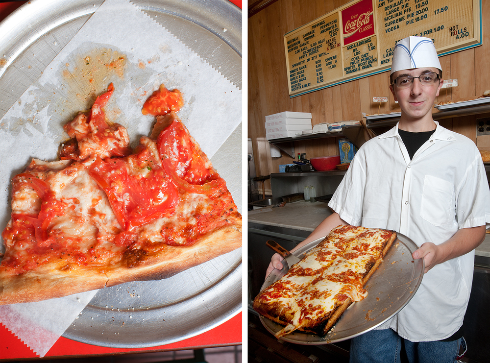 Luigi's Pizza on 5th Avenue in Sunset Park harkens back to the idyllic pizza shop of many New Yorkers' youth: it's friendly and social, affordable, and most of all - both of its crusts - square and round - are fermented properly and treated with care.