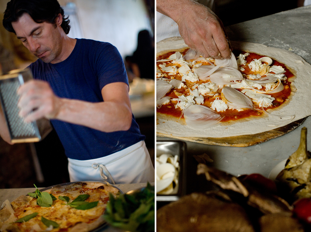 Not that you wait long for your pizza once seated, but if you watch the cooking go down at Lucali, you'll witness a beautiful slo-mo performance of pizza making.